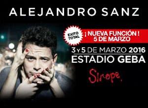 Alejandro Sanz en GEBA: 2x1 de descuento en Entretenimiento