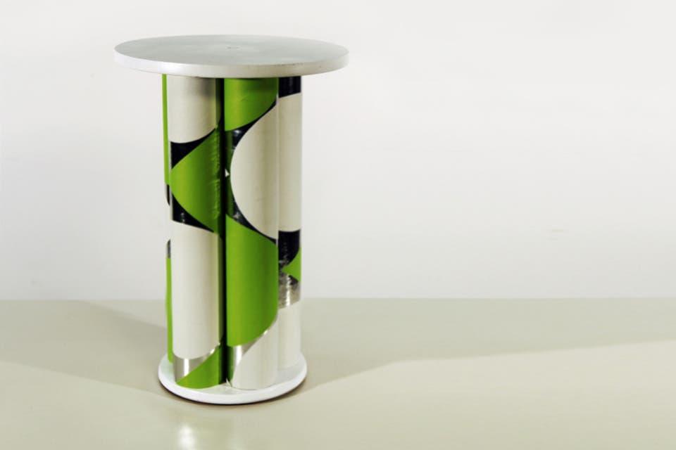 , cómo hacer una mesa con tubos de cartón  Living  ESPACIO LIVING