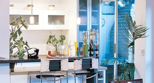 Barras: ideas y medidas para tu casa   común   espacio living