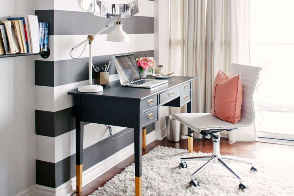 propuestas para decorar un escritorio femenino living espacio living