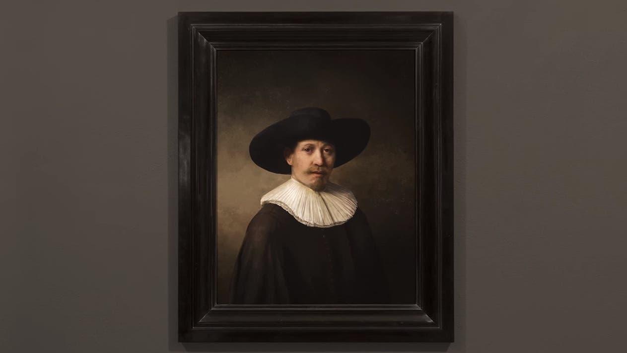 Muestran un nuevo retrato de Rembrandt que pintó una impresora 3D