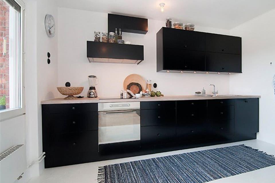 Cocinas en blanco y negro una combinaci n que siempre - Cocinas super modernas ...