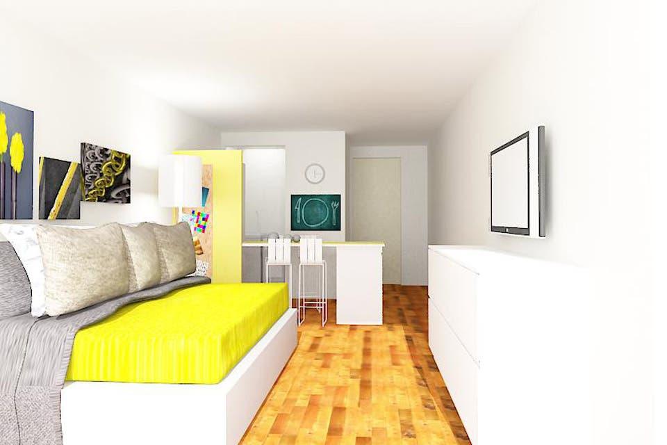 Como decorar un monoambiente soluci 243 n 201 c 243 mo for Decoracion monoambiente 30m2