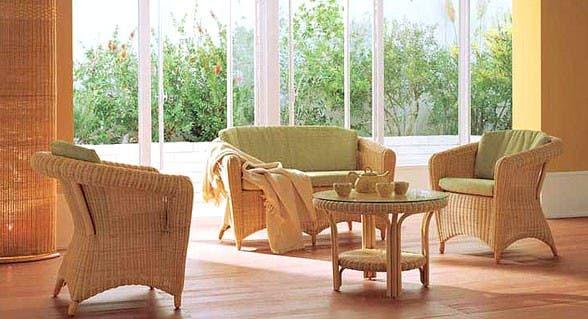muebles de rattan para exterior
