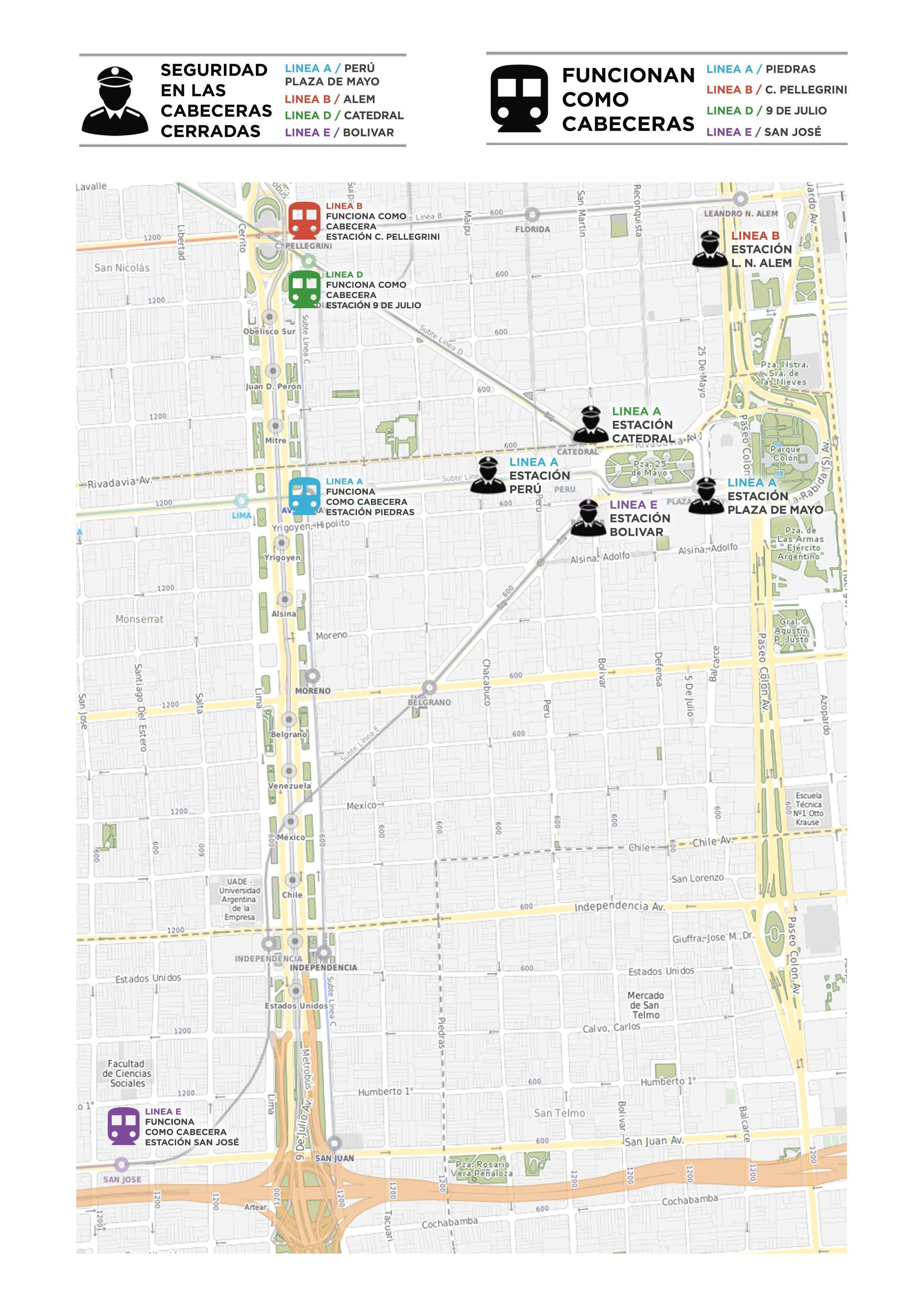 Por La Visita De Barack Obama Estarán Cerradas Varias Estaciones - Argentina subte map