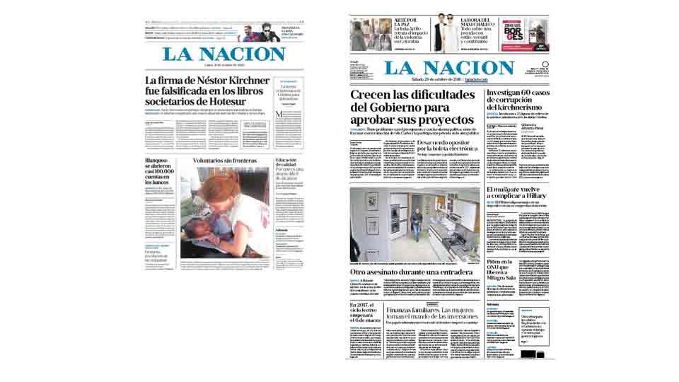 La nacion con un nuevo formato la edici n impresa ahora for Ultimas noticias del espectaculo de hoy