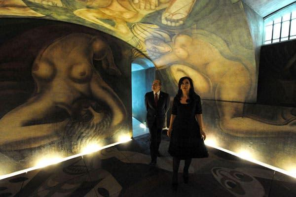La presidenta inaugur el mural de siqueiros for El mural de siqueiros
