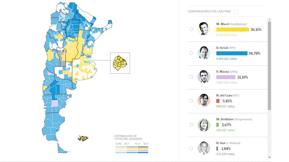 Argentina Legislative Election - Argentina election map