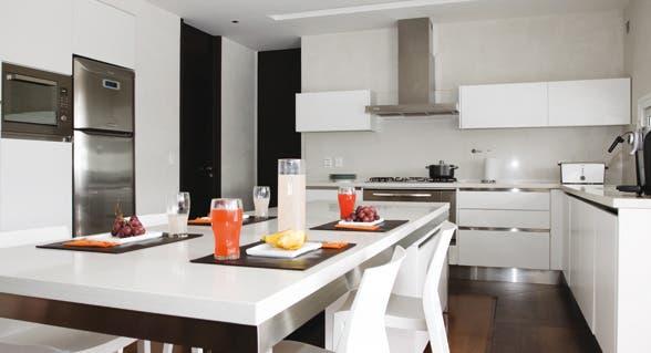 10 propuestas para cocinas minimalistas   común   espacio living